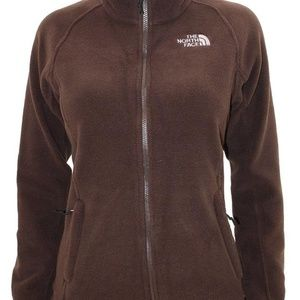 North Face Brown Fleece Sweater Jacket